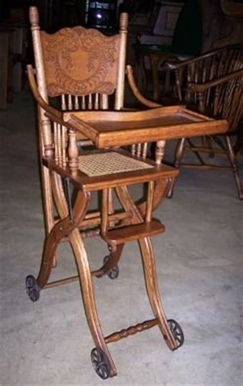 images  antique high chairs  pinterest