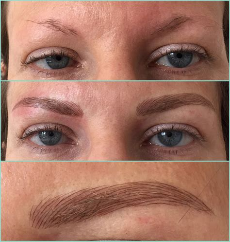 process of tattoo eyebrows permanent makeup eyebrows healing style guru fashion