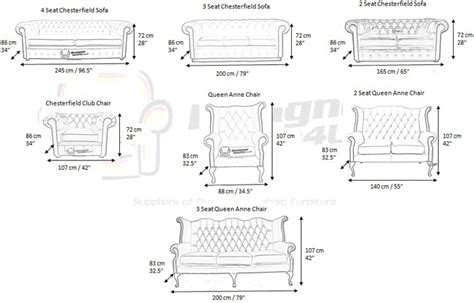 Settee Dimensions chesterfield furniture measurements designersofas4u