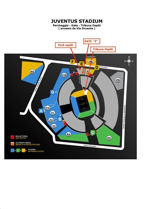 mappa juventus stadium ingressi serie a juventus inter info settore ospiti news