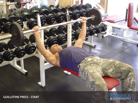 guillotine bench press guillotine press video exercise guide tips