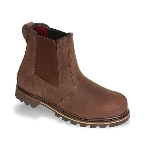 vtech rawhide v12 dealer boot brown leather safety