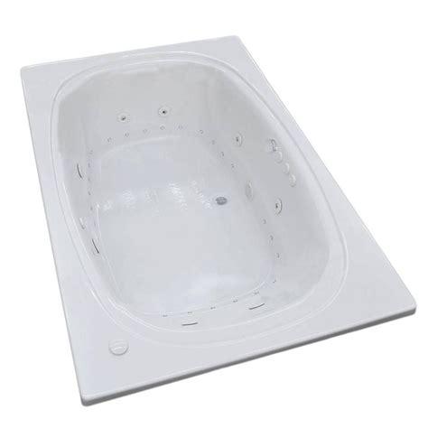 drop in whirlpool bathtubs universal tubs peridot 6 5 ft rectangular drop in