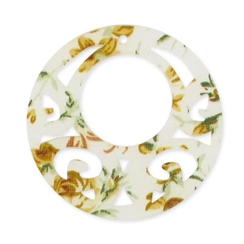 co fiorito pendente decorato mm 46 fiorito x1 perles co