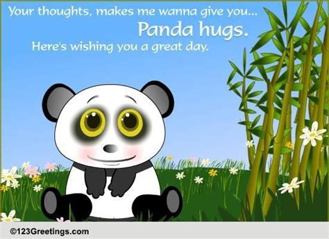 panda hugs  thinking   ecards greeting cards