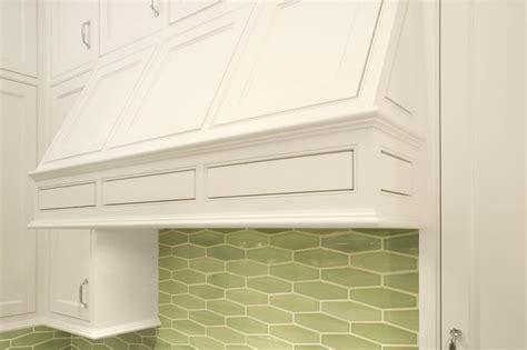 green geometric tile backsplash contemporary kitchen
