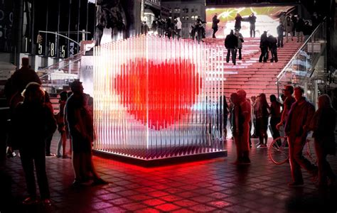 valentines day new york big architects s day sculpture in times square