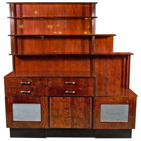 outstanding machine age deco bar cabinet server at 1stdibs
