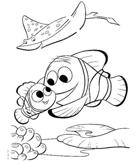 dibujos infantiles para colorear de responsabilidades peces de colores