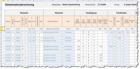 Rechnung Freiberufler Reisekosten Excel Reisekostenabrechnung Excel Vorlagen Shop