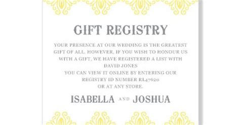 Wedding Registry Gift Card Etiquette - wording for baby gift registry baby shower registry cards paperstyle with baby