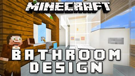 Minecraft Tutorial How To Make A Modern Bathroom Modern Minecraft Modern Bathroom