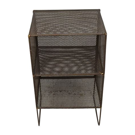 Small Metal Accent Table Shop Mahogany Woiod Bla