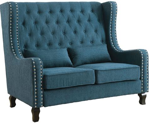 teal bench alicante dark teal loveseat bench cm bn6449tl pk furniture of america