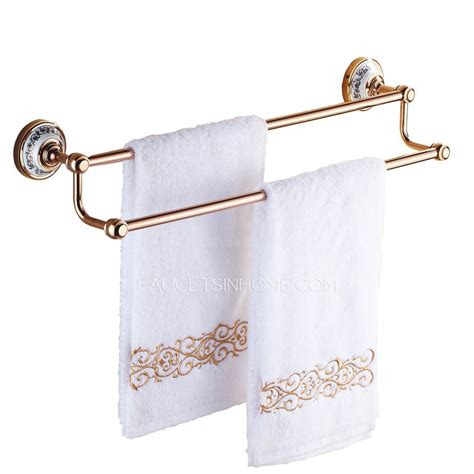 rose gold bathroom accessories vintage rose gold ceramic double towel bars