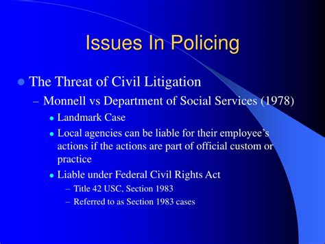 civil rights act section 1983 ppt the police and law enforcement powerpoint