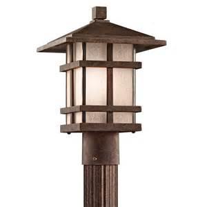 Patio Post Lights Kichler Lighting 9527agz Cross Creek Arts And Crafts Mission Outdoor Post Lantern Kch 9527 Agz