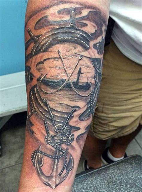 fishing tattoo ideas for men 75 fishing tattoos for reel in manly design ideas