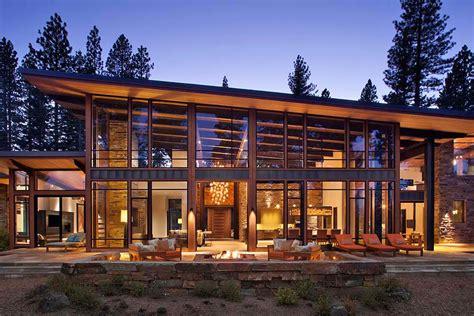 Mountain Chalet House Plans Fabulous Mountain Modern Retreat In The High Sierras