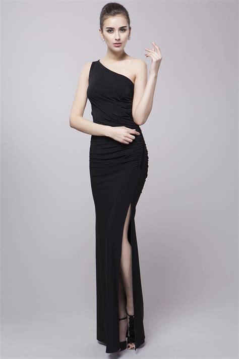 Dress Formal 1342 Tosca high fashion sheath one shoulder polyeste dress with split ck78 84 1 gemgrace