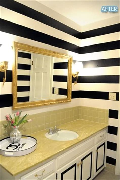 stripped bathroom what do your wall stripes say about you