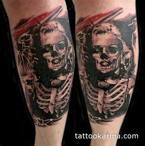 best black and grey tattoo artist nyc dead marilyn monroe tattoo