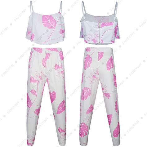 Set Printed Jumpsuit floral printed 2 pcs set top pencil