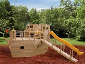 Pirate Ship Backyard Playset Playhouse Swing Set Plans Blueprint For A Pirate Ship
