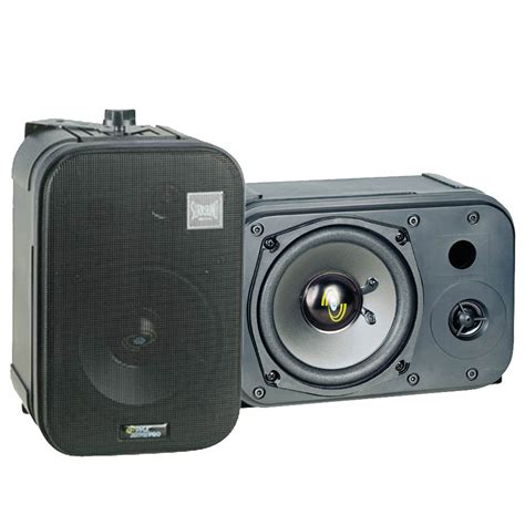 pyle pdmn48 5 two way bass reflex mini monitor