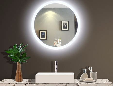 bathrooms double backlit round bathroom mirror backlit illuminated bathroom mirror lighted wall mirrors for