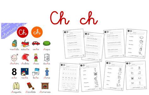 imagenes y palabras con ch taller de lectoescritura ch hojas de lectura y actividades