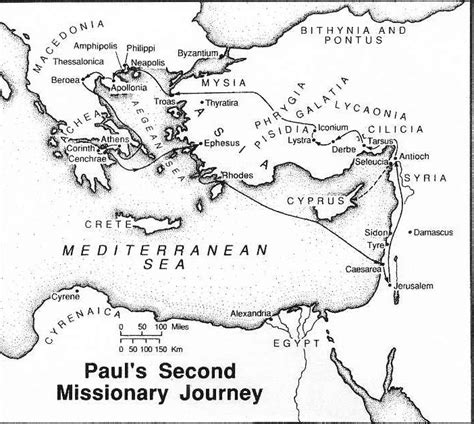 printable journey template paul missionary journeys coloring page below is a map of