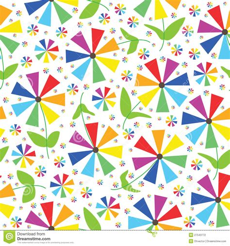 color pattern in rainbow rainbow colors flowers seamless pattern eps stock