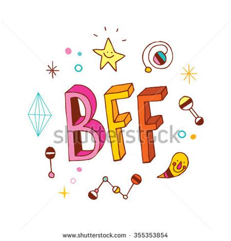 imagenes que digan best friends forever bff best friends forever vectores en stock 355353854
