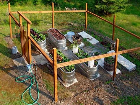 Watering Vegetable Garden 17 Best Images About Diy Galvanized Stock Tank Planters