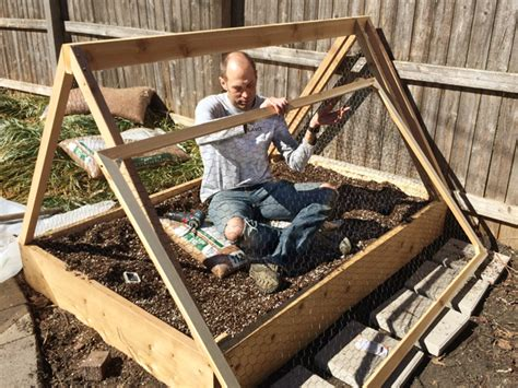 how to build a raised bed garden frame how to build a covered raised garden bed rather square