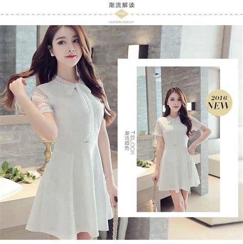 Dress Bahan Balotelly Model Pita Depan Cantik dress putih pita cantik import 2016 model terbaru jual murah import kerja