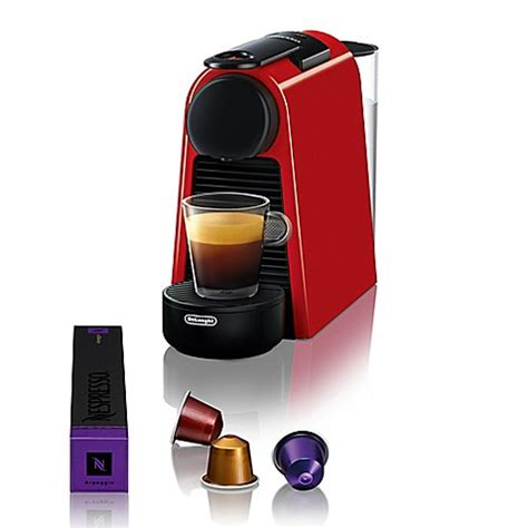 bed bath and beyond nespresso nespresso 174 by de longhi essenza mini espresso maker bed
