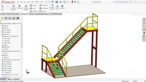 solidworks tutorial layout solidworks weldments tutorial design of steel ladder in