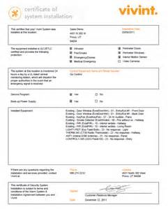 alarm installation certificate template using the vivint account center to simplify your