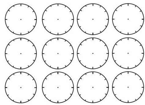 blank clock face worksheet blank clock faces worksheet