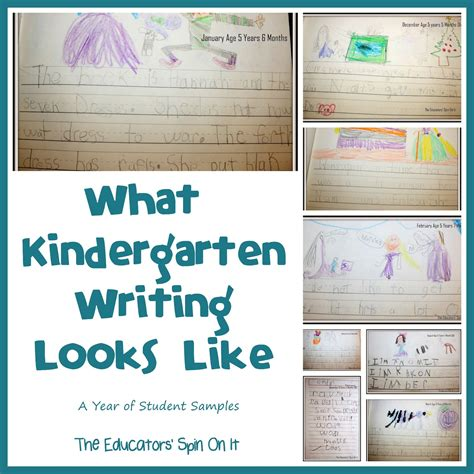 new year writing for kindergarten the educators spin on it what kindergarten writing looks