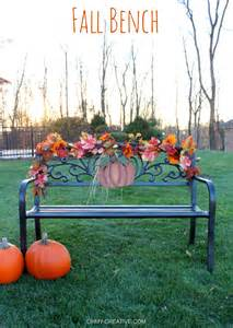 Outdoor Bench With Cooler Easy To Decorate Fall Outdoor Bench Oh My Creative