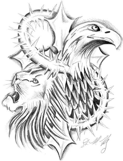 the lion and the eagle by usagi rukia on deviantart