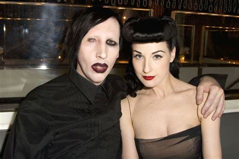 Dita Teese And Marilyn Not Friends by Marilyn Industrial Metal Heavy Shock Glam
