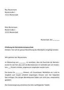 Schreiben Kautionsrückzahlung Muster Musterschreiben Erh 246 Hung Betriebskostenpauschale Jetzt