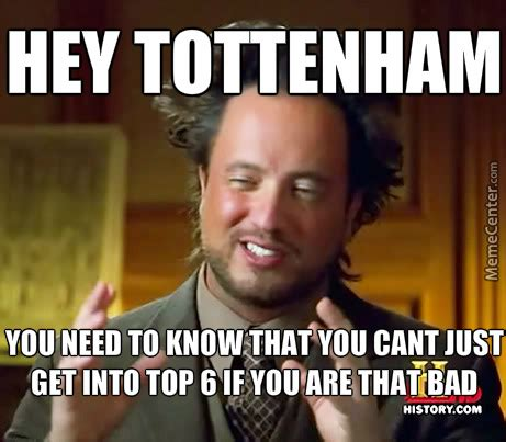Arsenal Tottenham Meme - tottenham are so bad by ebolaman meme center