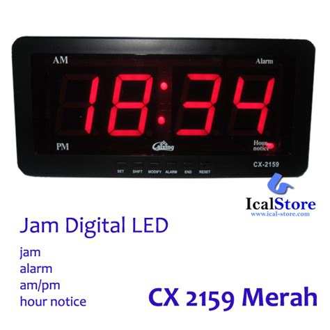 Jam Digital Led Cx 2158 Bulanhariminggutemperatur Clock Led Hijau jam dinding digital led tipe 2159 merah ical store