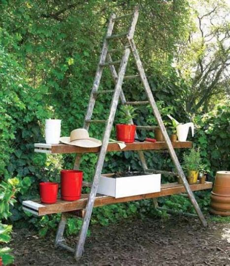 Garden Decoration From Wood by Outdoor Garden Decorations Made Of Wood Ladder