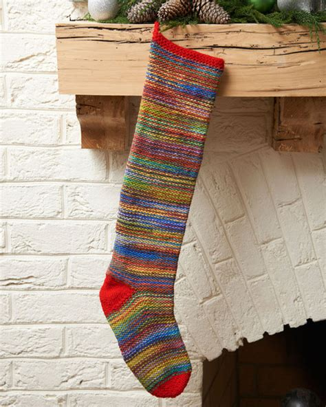 free knitting pattern for large christmas stocking colorful keepsake stocking allfreeknitting com